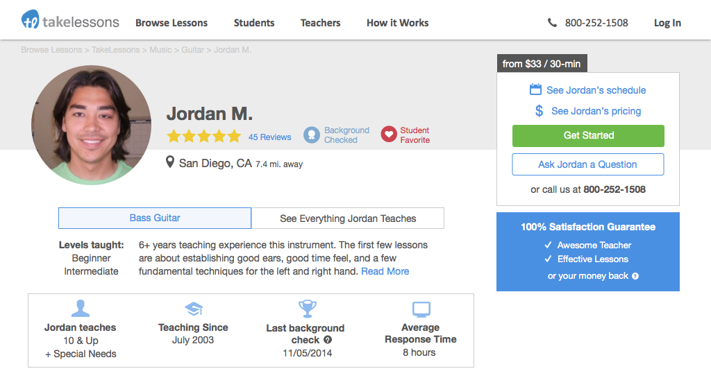 TakeLessons Profile